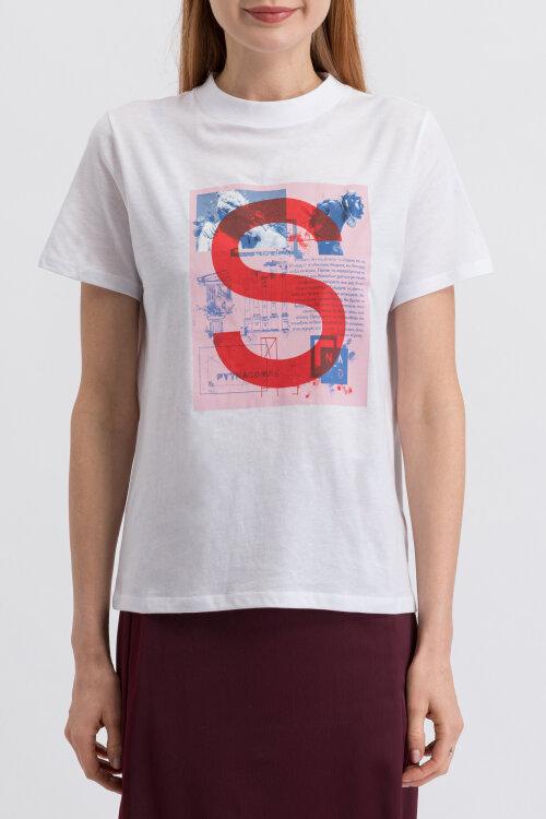 T-Shirt Na-Kd 1018-003248_WHITE biały