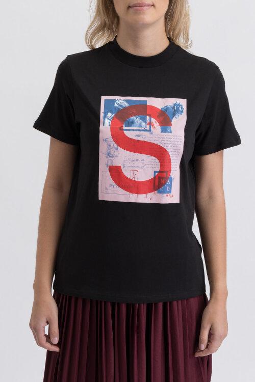 T-Shirt Na-Kd 1018-003248_BLACK czarny
