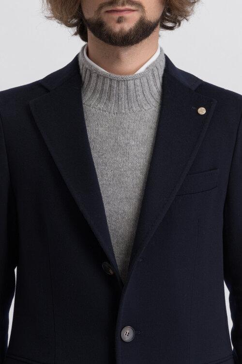Płaszcz Cavaliere 75AW19226_Aldrich coat CEO_70 granatowy