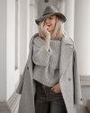 Sweter Fraternity JZ19_1031_GRIGIO jasnoszary