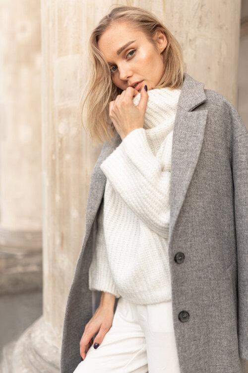 Sweter Fraternity JZ19_1031_PANNA kremowy