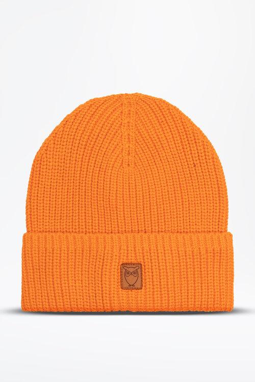 Czapka Knowledgecotton Apparel 82214_1277 pomarańczowy