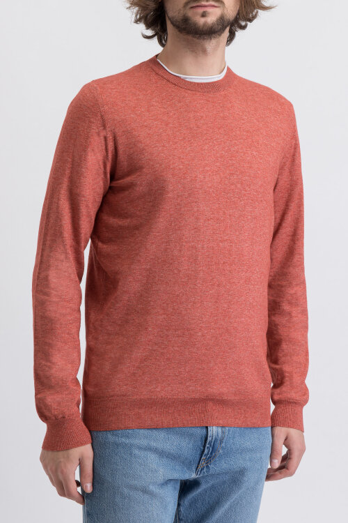 Sweter Oscar Jacobson CUSTER 6439_4961_646 pomarańczowy