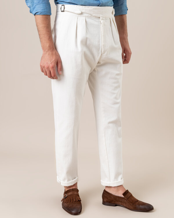 Spodnie Lardini EGLAGOS4_EGRL52255_1 kremowy