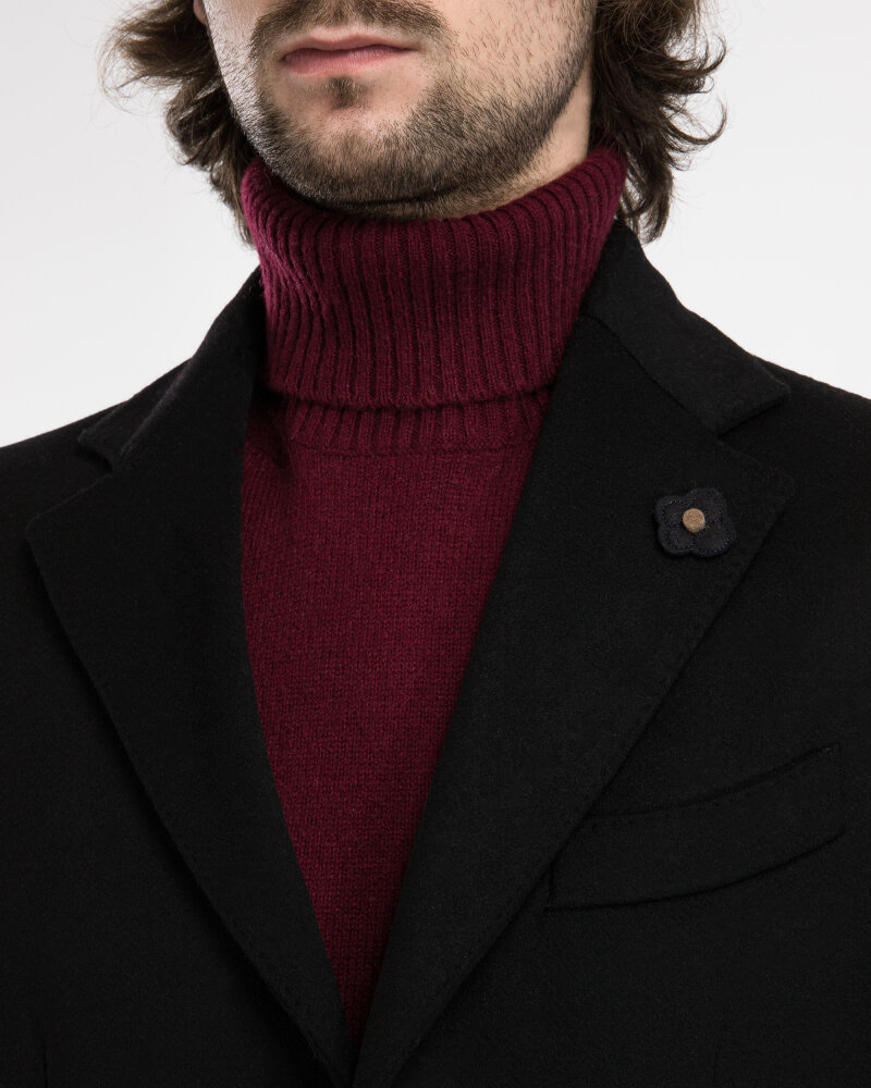 Płaszcz Lardini IG23109AE_4 czarny - fot:2