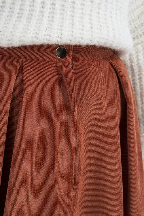 Spódnica Fraternity JZ19_W-SKI-0112_ORANGE pomarańczowy