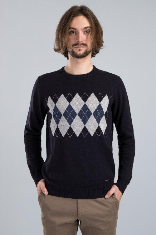 Sweter Fynch-Hatton 1120224_1611 granatowy