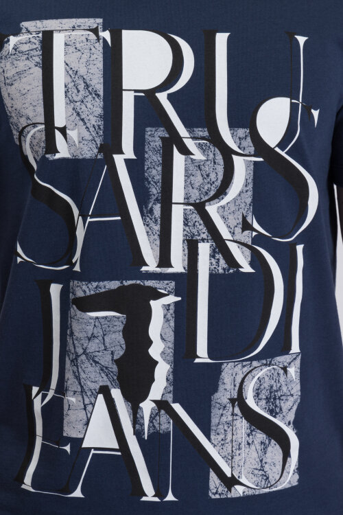 T-Shirt Trussardi Jeans 52T00276_1T001675_U290 granatowy