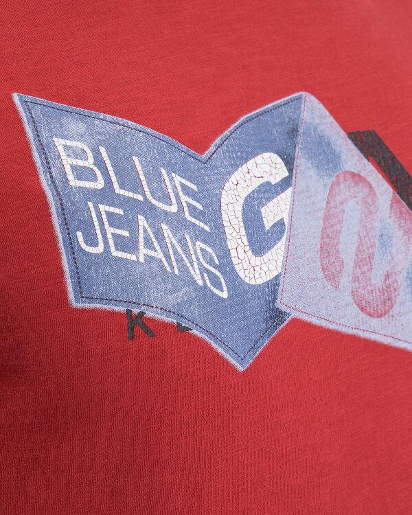 T-Shirt Gas 98371_JENS/S LOGO KEEP IT_1385 czerwony