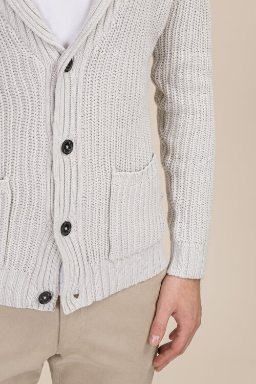 Sweter Lindbergh 30-80041_OFF WHITE MEL beżowy