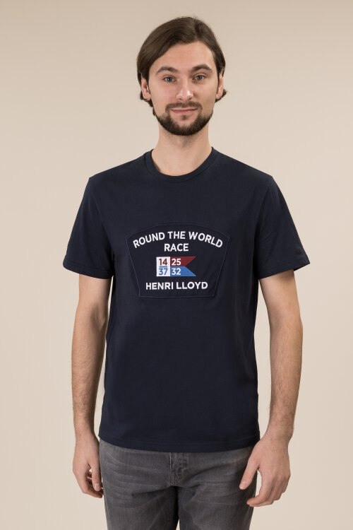 T-Shirt Henri Lloyd A192155030_601 granatowy