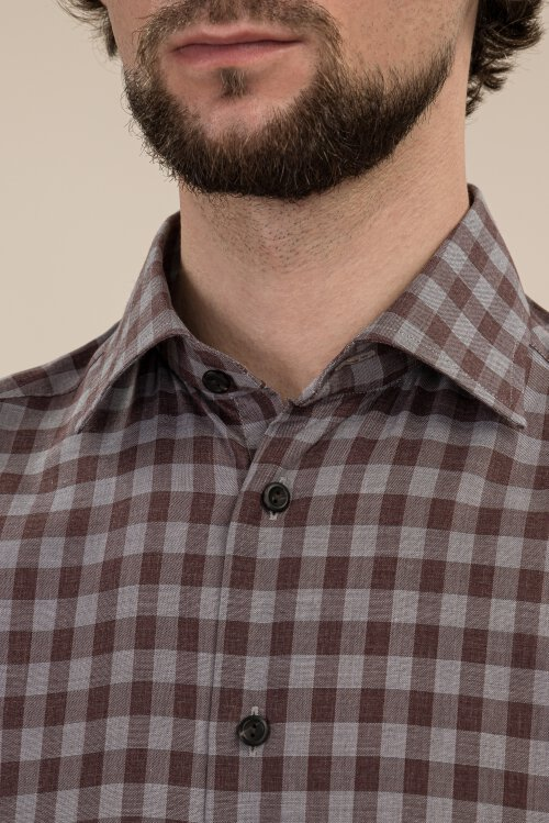 Koszula Eton 1000_00831_57 brązowy
