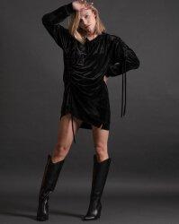 Sukienka Fraternity JZ19_W-DRE-0445_BLACK czarny- fot-0