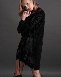 Sukienka Fraternity JZ19_W-DRE-0445_BLACK czarny- fot-2