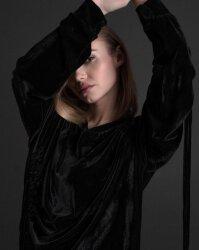 Sukienka Fraternity JZ19_W-DRE-0445_BLACK czarny- fot-3