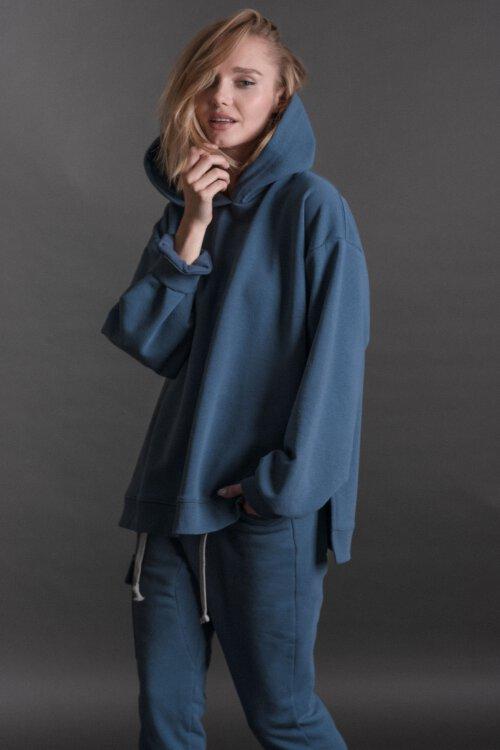 Bluza Fraternity JZ19_W-BLO1-0108_JEANS niebieski
