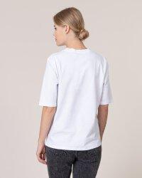 T-Shirt Na-Kd 1582-000114_WHITE biały- fot-2