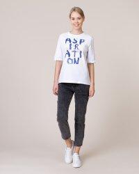 T-Shirt Na-Kd 1582-000114_WHITE biały- fot-3