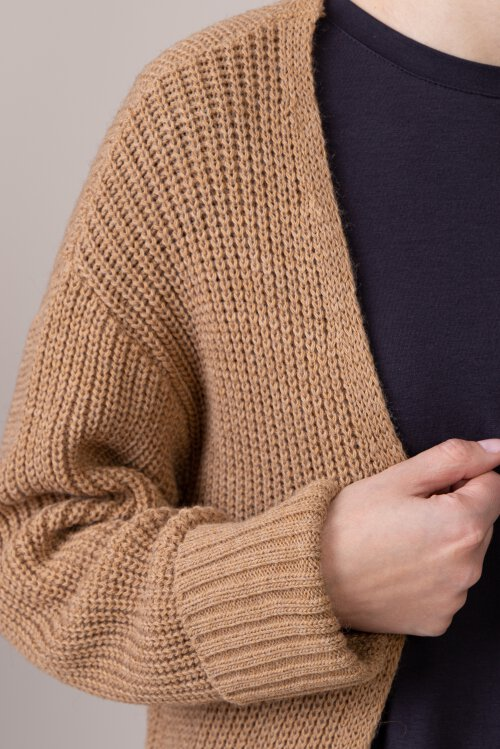 Sweter Na-Kd 1018-004227_DARK BEIGE beżowy
