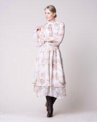 Sukienka Na-Kd 1018-004054_BEIGE PRINT beżowy- fot-0