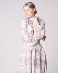 Sukienka Na-Kd 1018-004054_BEIGE PRINT beżowy- fot-1