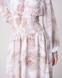 Sukienka Na-Kd 1018-004054_BEIGE PRINT beżowy- fot-3