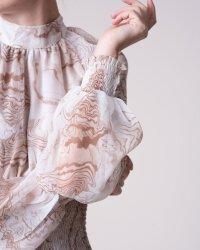 Sukienka Na-Kd 1018-004054_BEIGE PRINT beżowy- fot-4