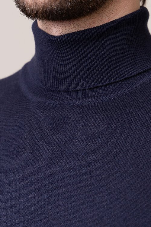 Sweter Gas 94983_AYRON COLLAR/S_2988 granatowy