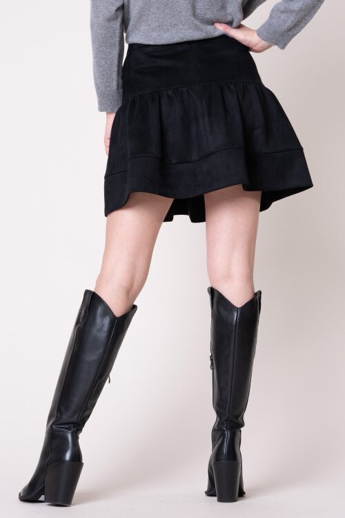 Spódnica Fraternity JZ19_W-SKI-0115_BLACK czarny
