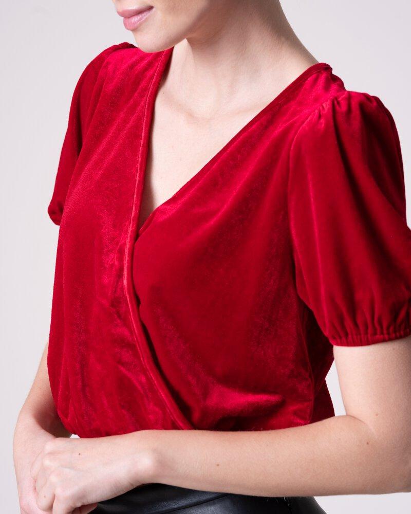 T-Shirt Na-Kd 1017-000521_RED czerwony - fot:4