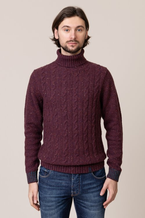 Sweter Colours & Sons 9219-141_349 bordowy