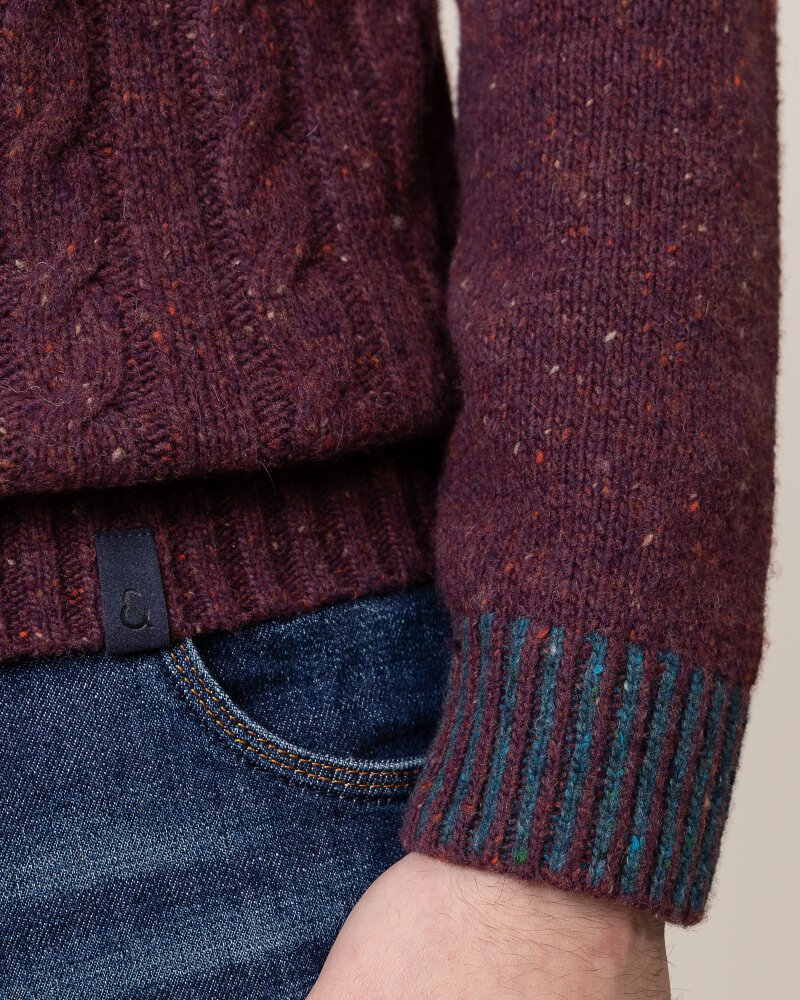 Sweter Colours & Sons 9219-141_349 bordowy - fot:4