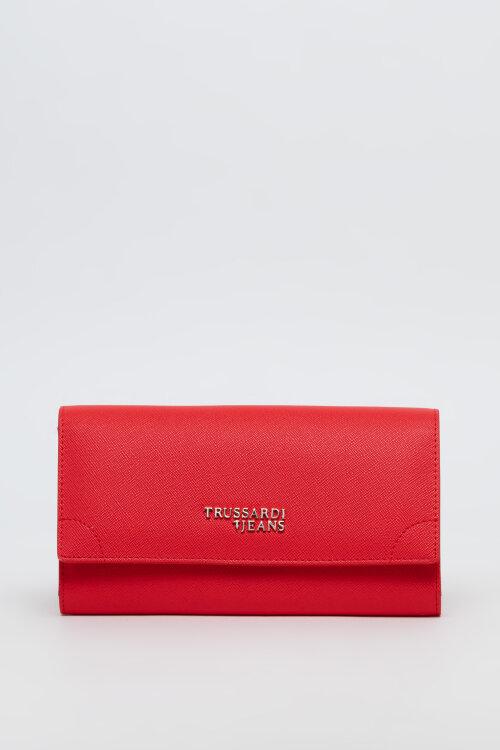 Portfel Trussardi Jeans 75W00214_9Y099999_P110 czerwony