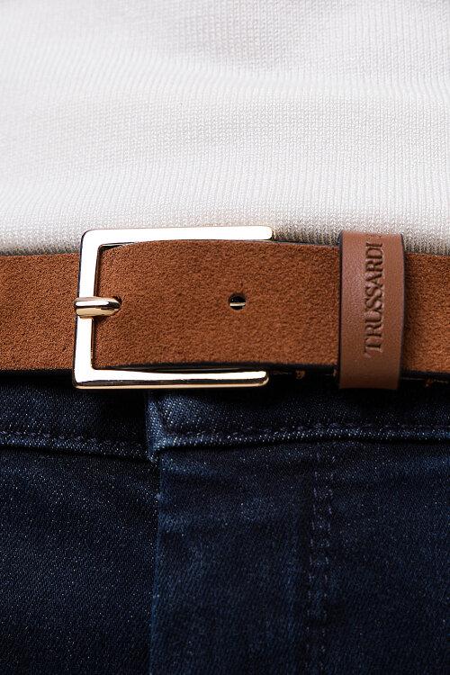 Pasek Trussardi Jeans 75L00105_9Y099999_B660 brązowy