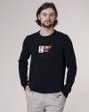 Sweter Henri Lloyd A201153035_Cross Knit_602 granatowy