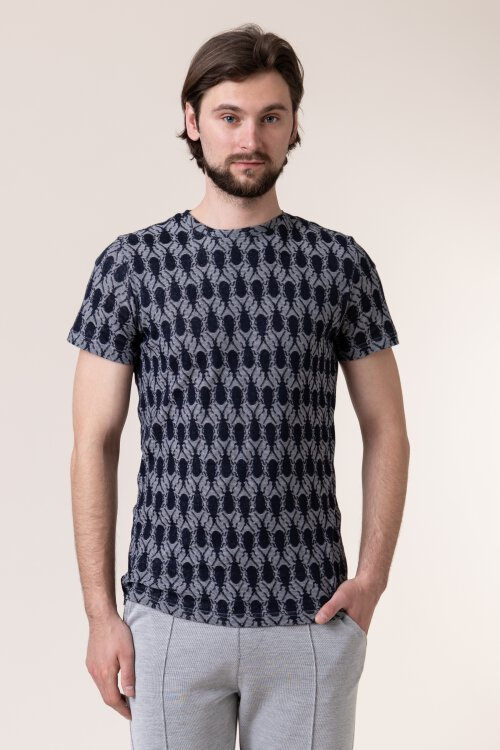 T-Shirt New In Town 8023027_494 granatowy