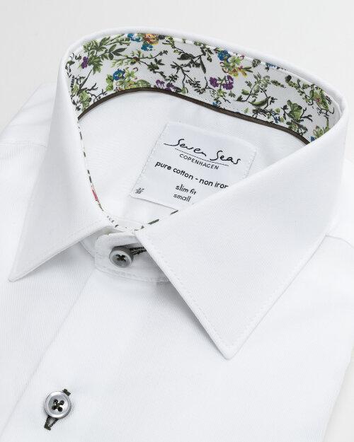 Koszula Seven Seas FINE TWILL W/BLOSSOM_001 biały