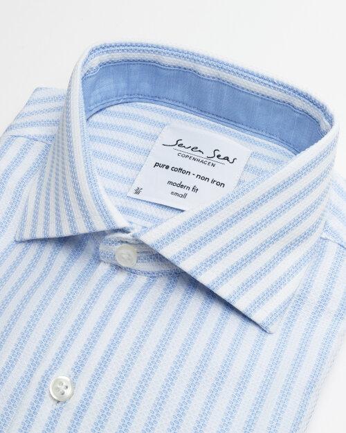 Koszula Seven Seas NEWTON_700 niebieski