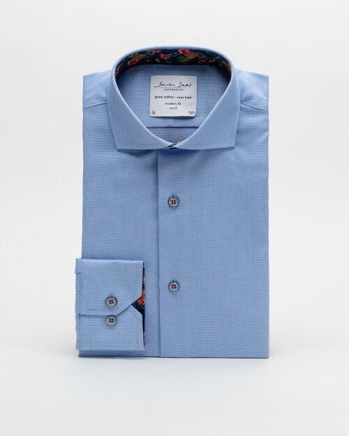 Koszula Seven Seas ROYAL OXFORD W/PINEA_700 niebieski