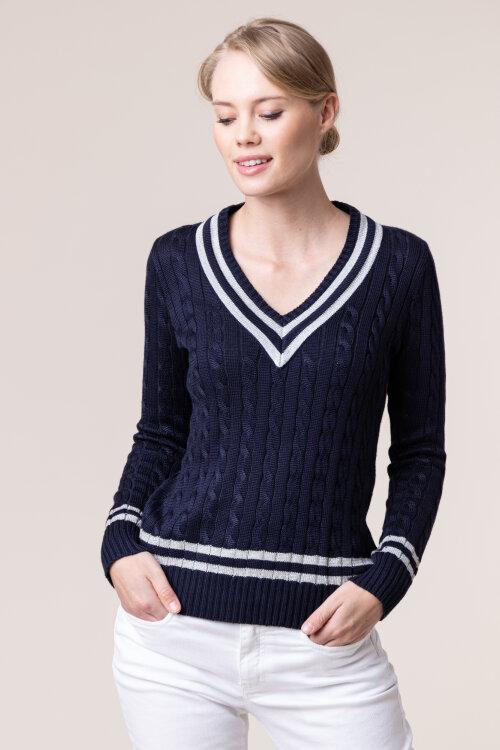 Sweter Lauren Ralph Lauren 200773871002_NAVY/SILVR granatowy
