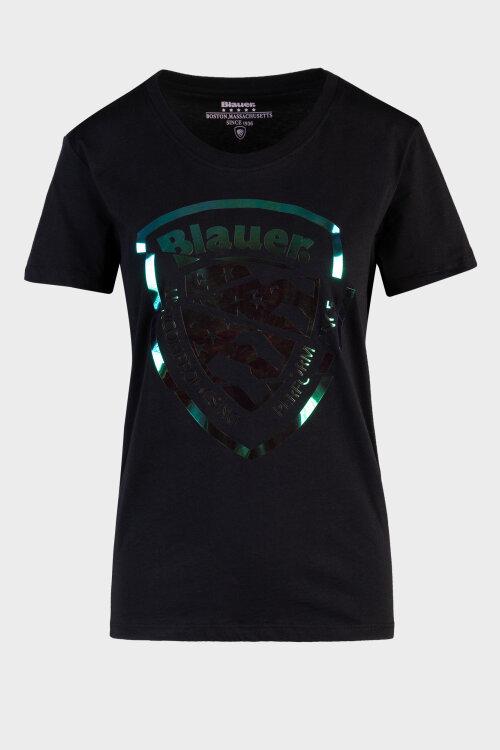 T-Shirt Blauer 20SBLDH02241_999 czarny