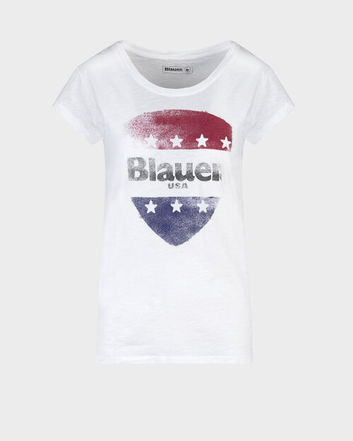 T-Shirt Blauer 20Sbldh02405_100 Biały Blauer 20SBLDH02405_100 biały