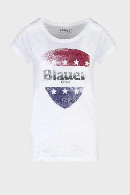 T-Shirt Blauer 20SBLDH02405_100 biały
