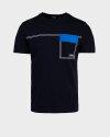 T-Shirt Antony Morato MMKS01689_FA100144_7073 granatowy