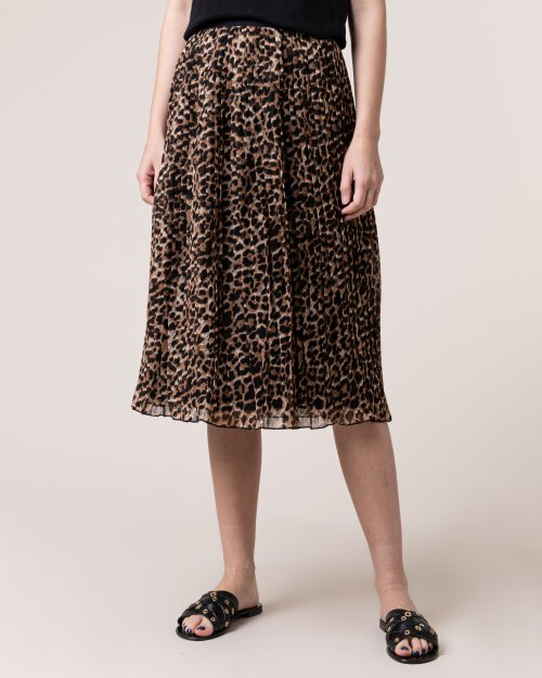 Spódnica Na-Kd 1100-001282_LEOPRONT brązowy