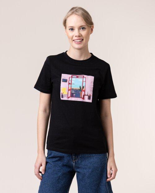 T-Shirt Na-Kd 1018-004131_BLACK czarny