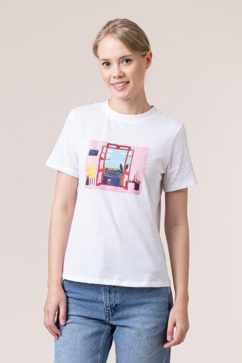 T-Shirt Na-Kd 1018-004131_WHITE biały