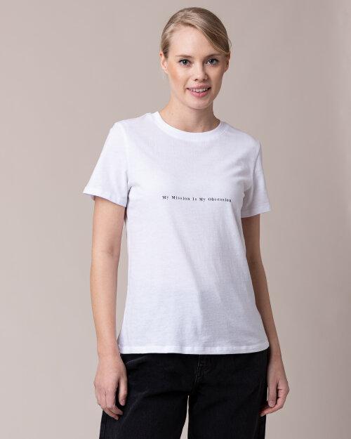 T-Shirt Na-Kd 1018-004136_WHITE biały