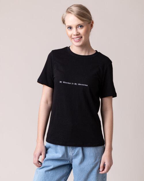 T-Shirt Na-Kd 1018-004136_BLACK czarny