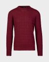 Sweter Oscar Jacobson MATTY 6930_5217_666 bordowy